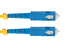 SC to SC Singlemode Duplex 9/125 Fiber Patch Cable, 19 Meters