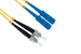 SC to ST Singlemode Duplex 9/125 Fiber Patch Cable, 7 Meters