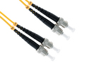 ST to ST Singlemode Duplex 9/125 Fiber Patch Cable, 2 Meters