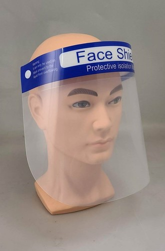 Clear Protective Face Shield, 10 Pack