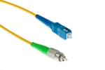 FC (APC) to SC Singlemode Simplex 9/125 Fiber Patch Cable, 4M