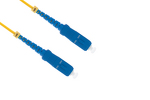 SC to SC Singlemode Simplex 9/125 Fiber Patch Cable, 1 Meter