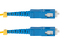 SC to SC Singlemode Simplex 9/125 Fiber Patch Cable, 3 Meters