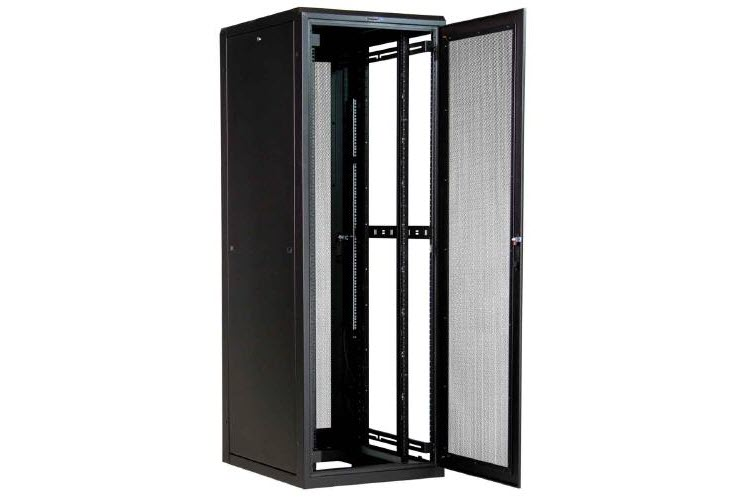 Great Lakes 44U Enclosure-Mesh Front Door, Split Mesh Rear Door