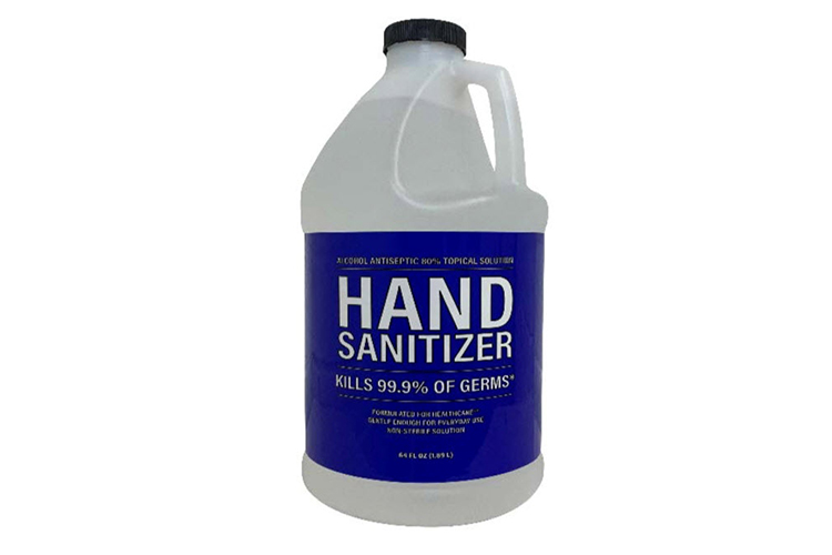 Half Gallon Alcohol Based Hand Sanitizer, 64oz, Made in USA