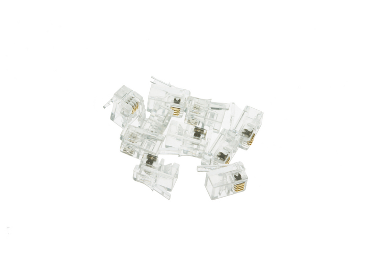 Modular Handset Plugs / Connectors, 4P4C, Qty 10