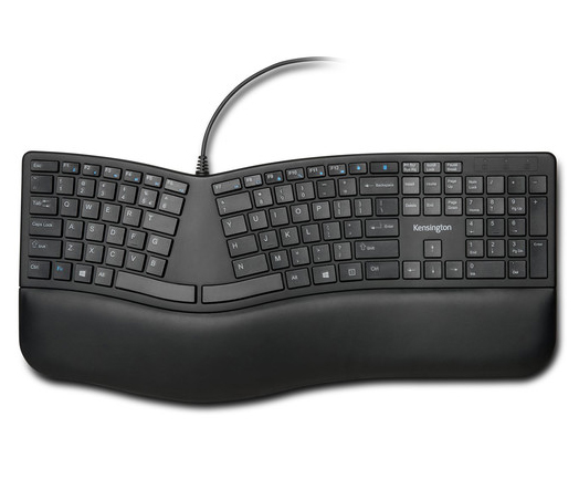 Kensington ProFit Ergo Wired Keyboard, K75400US