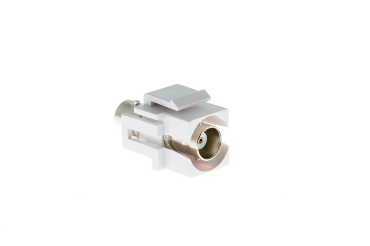 Keystone Snap In BNC Type F/F Module, White