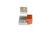 Cat5e RJ45 110 Type Keystone Jack, Orange