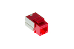 Cat5e RJ45 110 Type Keystone Jack, Red
