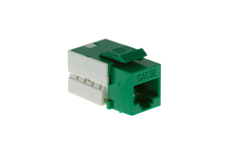 Cat5e RJ45 110 Type Keystone Jack, Green
