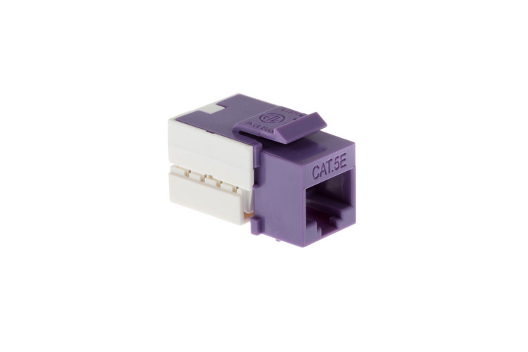 Cat5e RJ45 110 Type Keystone Jack, Purple