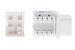 Cat5e RJ45 110 Type Keystone Jack, White