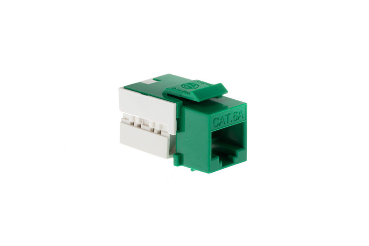 Cat6A RJ45 110 Type Keystone Jack, Green