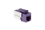 Cat6A RJ45 110 Type Keystone Jack, Purple