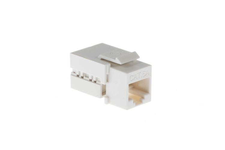Cat6A RJ45 110 Type Keystone Jack, White