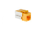 Cat6A RJ45 110 Type Keystone Jack, Yellow