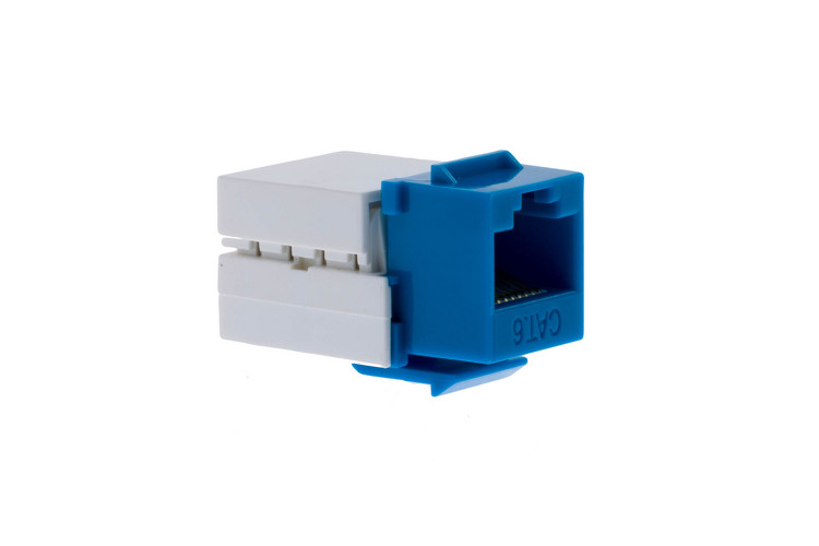 Cat6 RJ45 110 Type Keystone Jack, Blue, 50 Pack