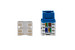 Cat6 RJ45 110 Type Keystone Jack, Blue
