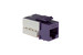 Cat6 RJ45 110 Type Keystone Jack, Purple