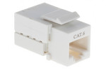 Cat6 RJ45 110 Type Keystone Jack, White, 25 Pack