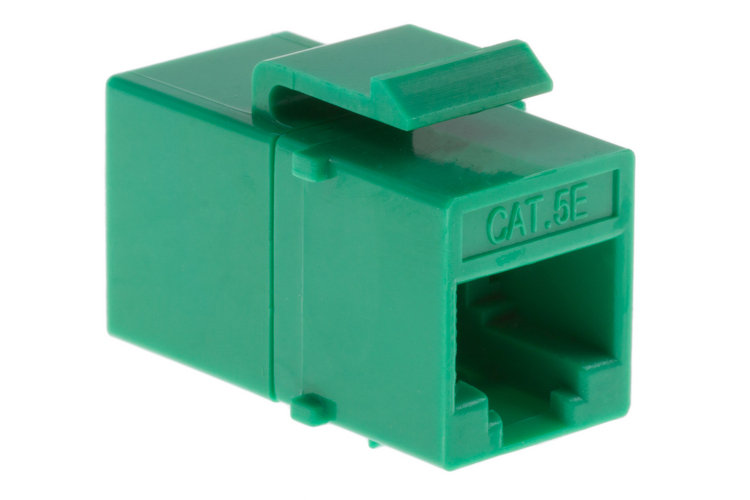 Cat5e RJ45 Inline Coupler Type Keystone Jack, Green