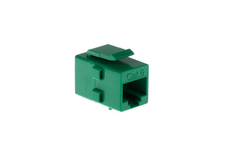 Cat6 RJ45 Inline Coupler Type Keystone Jack, Green