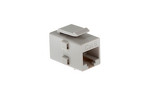 Cat6 RJ45 Inline Coupler Type Keystone Jack, Gray