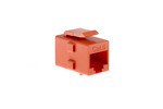 Cat6 RJ45 Inline Coupler Type Keystone Jack, Orange