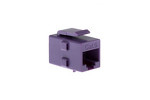 Cat6 RJ45 Inline Coupler Type Keystone Jack, Purple