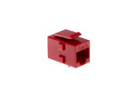 Cat6 RJ45 Inline Coupler Type Keystone Jack, Red