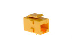 Cat6 RJ45 Inline Coupler Type Keystone Jack, Yellow