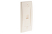 Decorative Keystone Wall Plate, 1 Port, Beige / Ivory