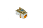 Cat5e Tool Less RJ45 Keystone Jack, Ivory