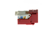 Cat6 Tool Less RJ45 Keystone Jack, Red