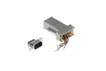 DB9 Male to RJ45 Female Modular Adapter