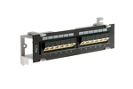 12 Port Cat5e 45 Degree Wallmount Patch Panel