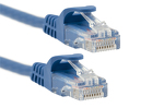 1ft Blue CAT6 Ethernet Patch Cables, Easyboot (Ferrari-style), 10 Pack