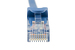 5ft Blue CAT6 Ethernet Patch Cables, Easyboot (Ferrari-style)