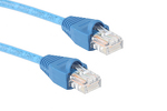 CAT5e Ethernet Patch Cable, Booted, Plenum, 30ft, Blue