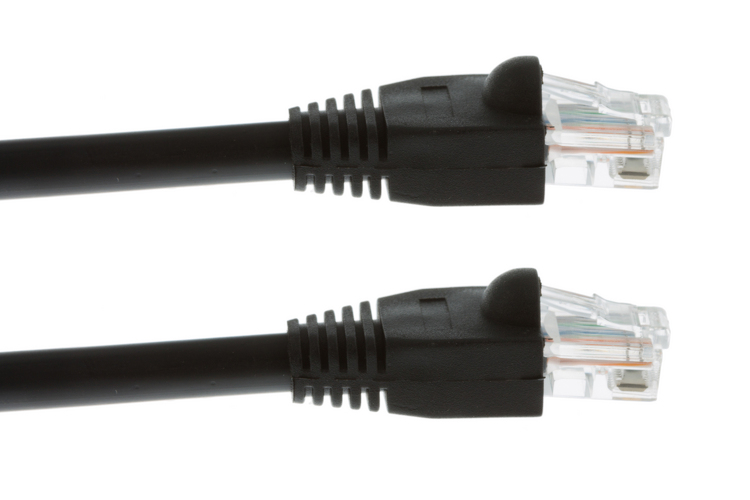 Cat5e Ethernet 300 Ft Black Direct Burial Booted