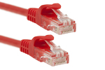 7ft Red CAT6 Ethernet Patch Cables, Easyboot (Ferrari-style)