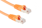 Cat5e Shielded Crossover Ethernet Cable, Booted, 7ft, Orange