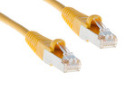 CAT5e Shielded Ethernet Cable, Booted, 100ft, Yellow, 10 Pack