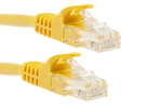 2ft Yellow CAT6 Ethernet Patch Cables, Easyboot (Ferrari-style)