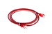 Cat6 Crossover Ethernet Patch Cable, Booted, 5ft, Red