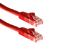 Cat6 Crossover Ethernet Patch Cable, Booted, 10ft, Red