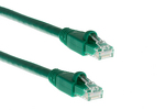 CAT6A Ethernet Patch Cable, Booted, 15ft, Green