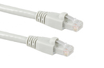 CAT6A Ethernet Crossover Cable, Booted, 3ft, Gray