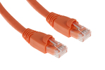 CAT6A Ethernet Patch Cable, Booted, 5ft, Orange